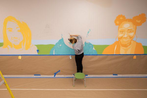 Roosevelt Artists Create Mural for Juvenile Justice Center