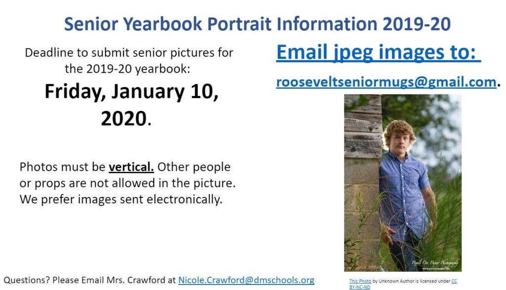 Senior portrait info yrbk 10 09 19