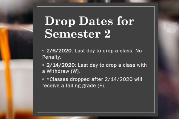 Deadlines to Drop/Add a Class for Second Semester
