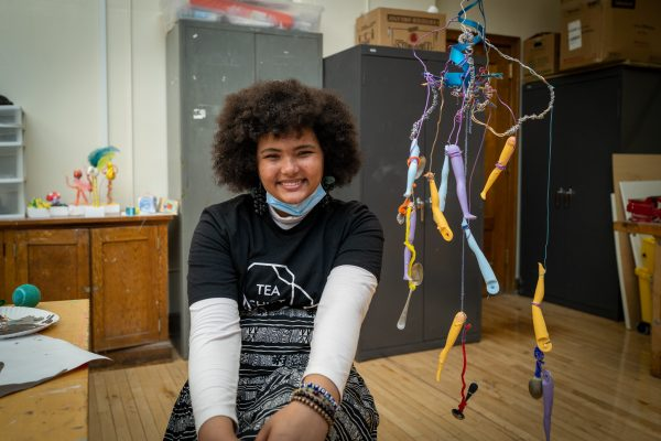 """Roosevelt Students Create Artworks for """"Earth Month"""" Event"""