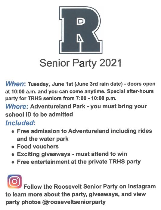 Senior Party 2021 Info